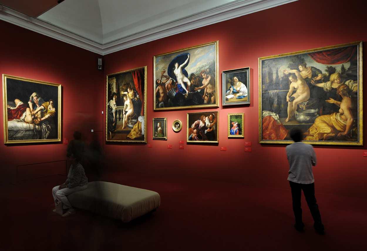 Royal Palace Artemisia Gentileschi Exhibition - main project view