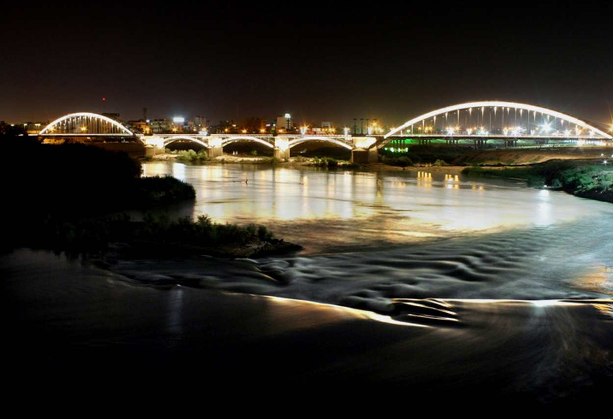 Iran Ahvaz Bridges lighting - main project view