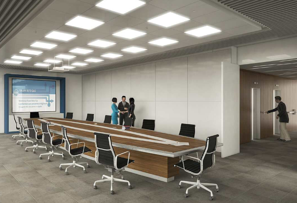 San Donato SNAM Headquarters meeting room - architectural lighting