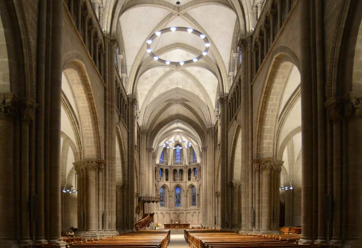 Switzerland Geneva Saint-Pierre Cathedral internal global view