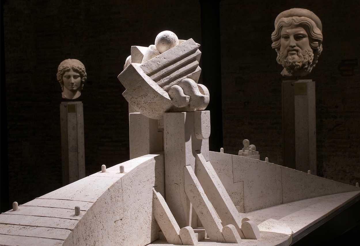 Baths of Diocletian I Segreti del Cielo Cascella Exhibition room - museum lighting design