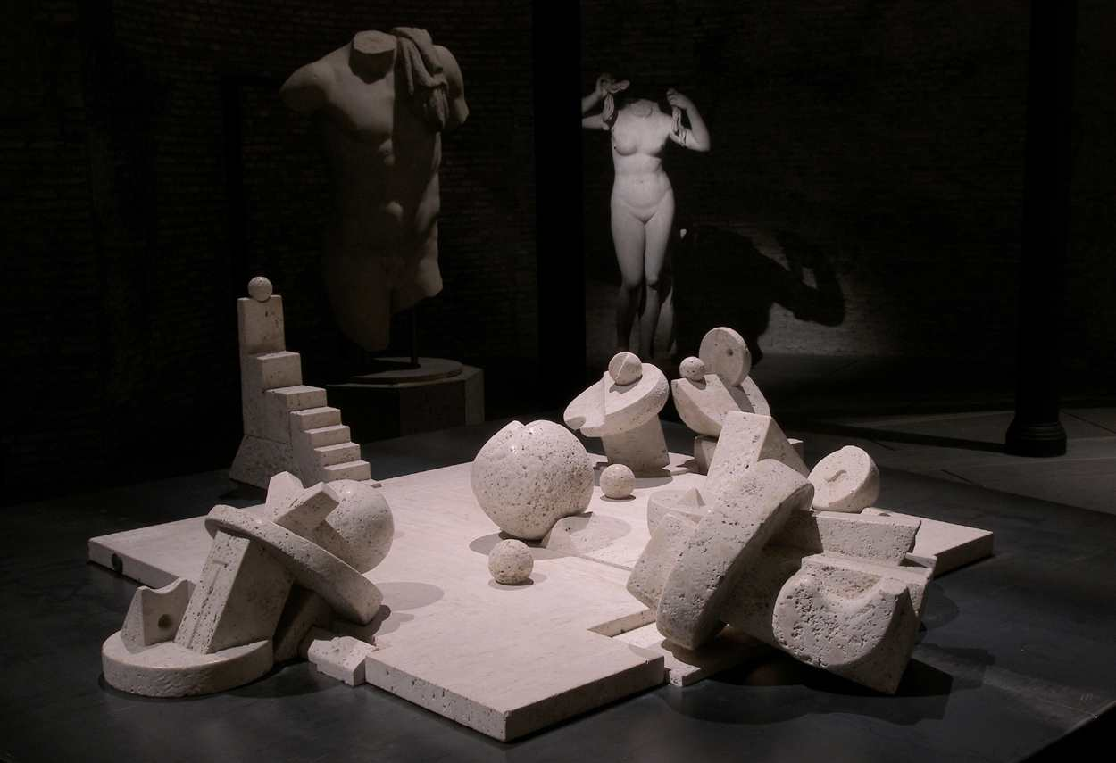 Baths of Diocletian I Segreti del Cielo Cascella Exhibition main room - museum lighting design