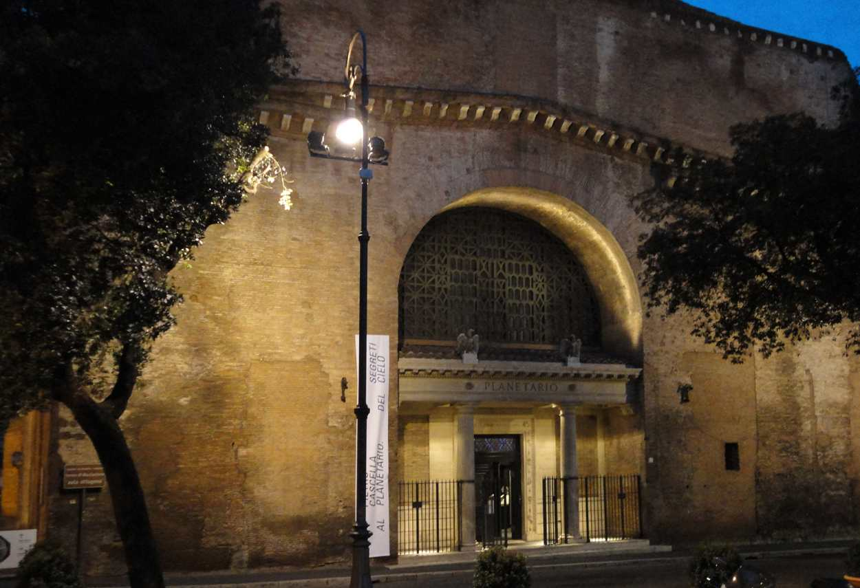 Baths of Diocletian I Segreti del Cielo Cascella Exhibition main entrance - museum lighting design