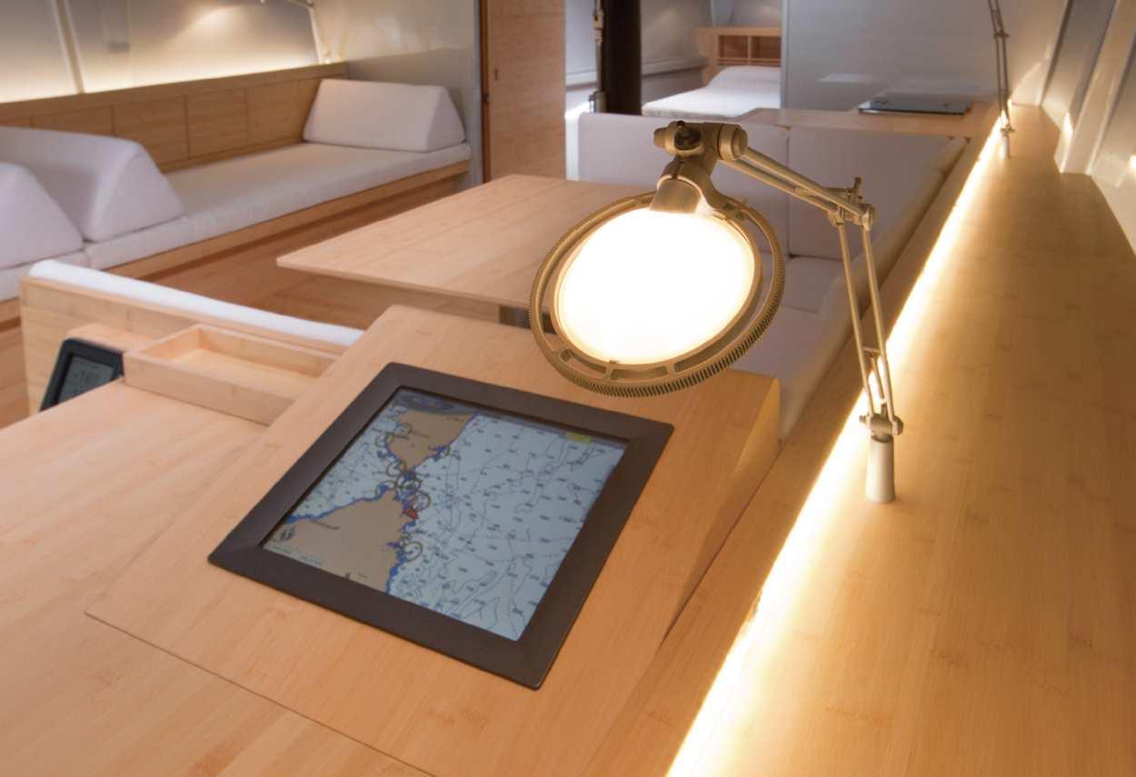 Yacht Sailing Boat Mandrake detail - retail lighting design