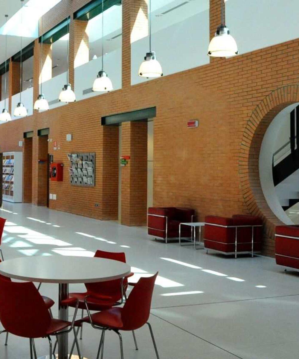 Dugnano Public Library Tilane relax room - building lights