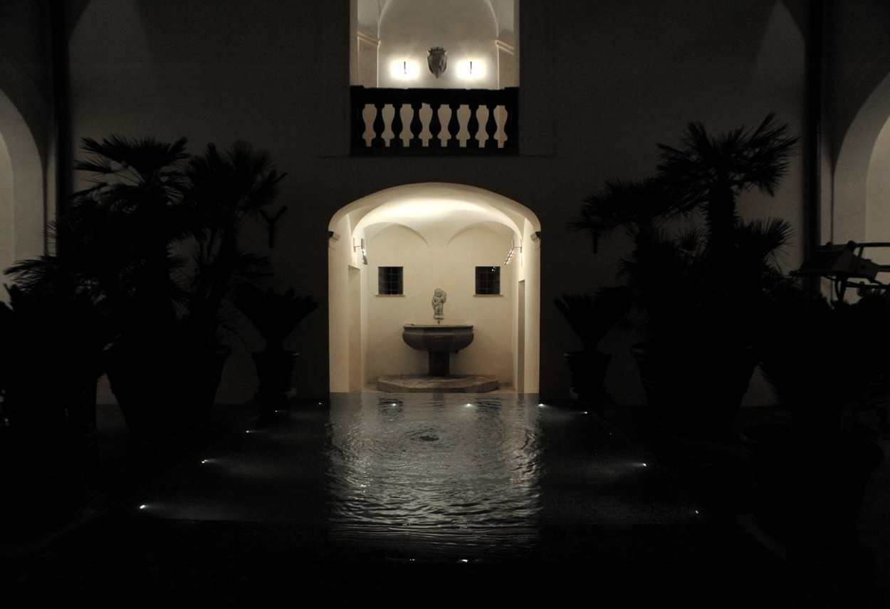 Branciforte Palace in Palermo internal court - architectural outdoor lighting
