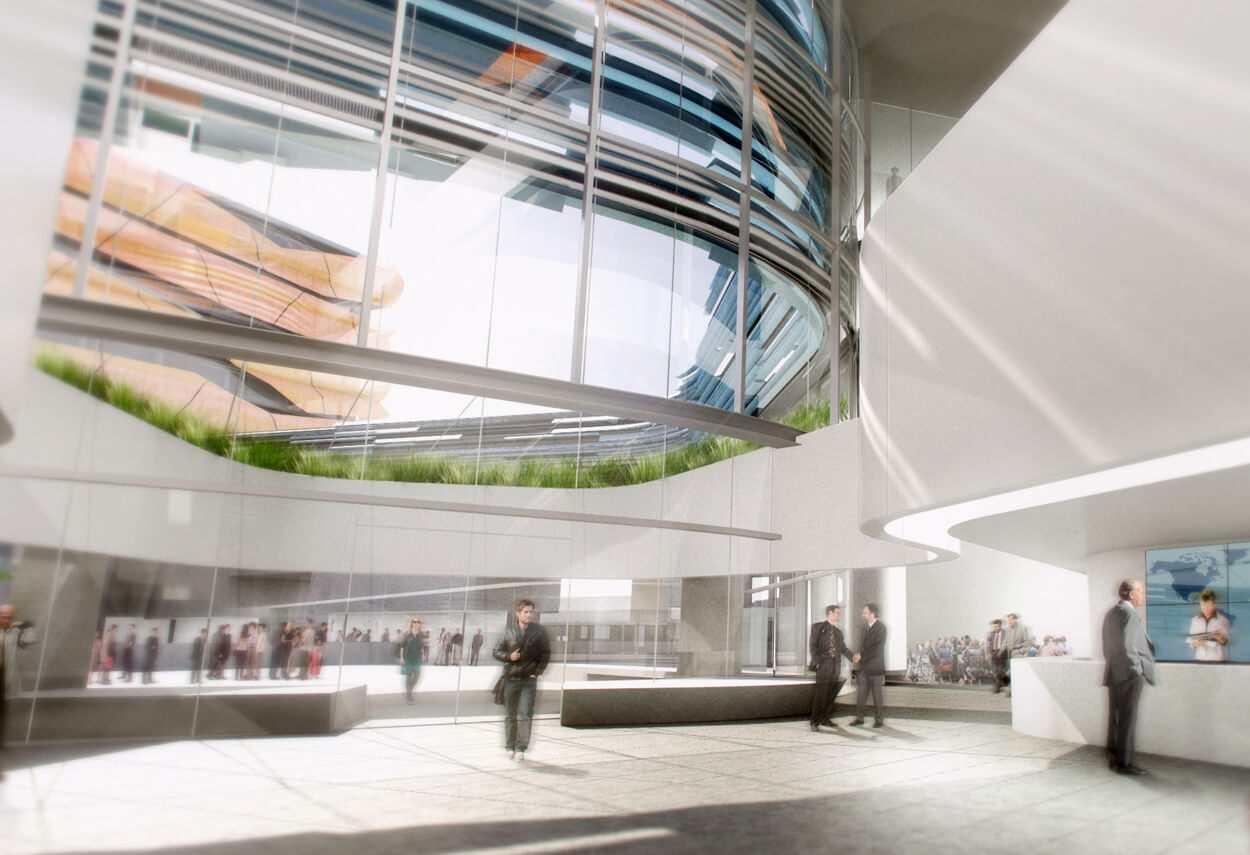 Italy San Donato ENI Headquarters internal view - architectural lighting