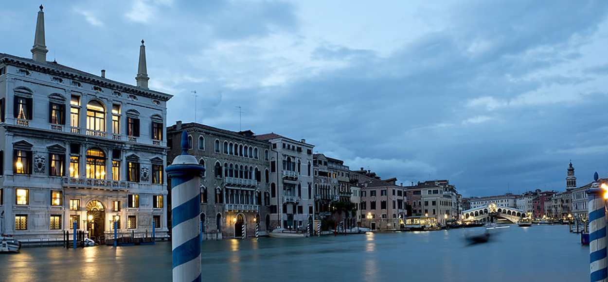 Venezia Papadopoli Palace Aman Resorts external view - architectural outdoor lighting