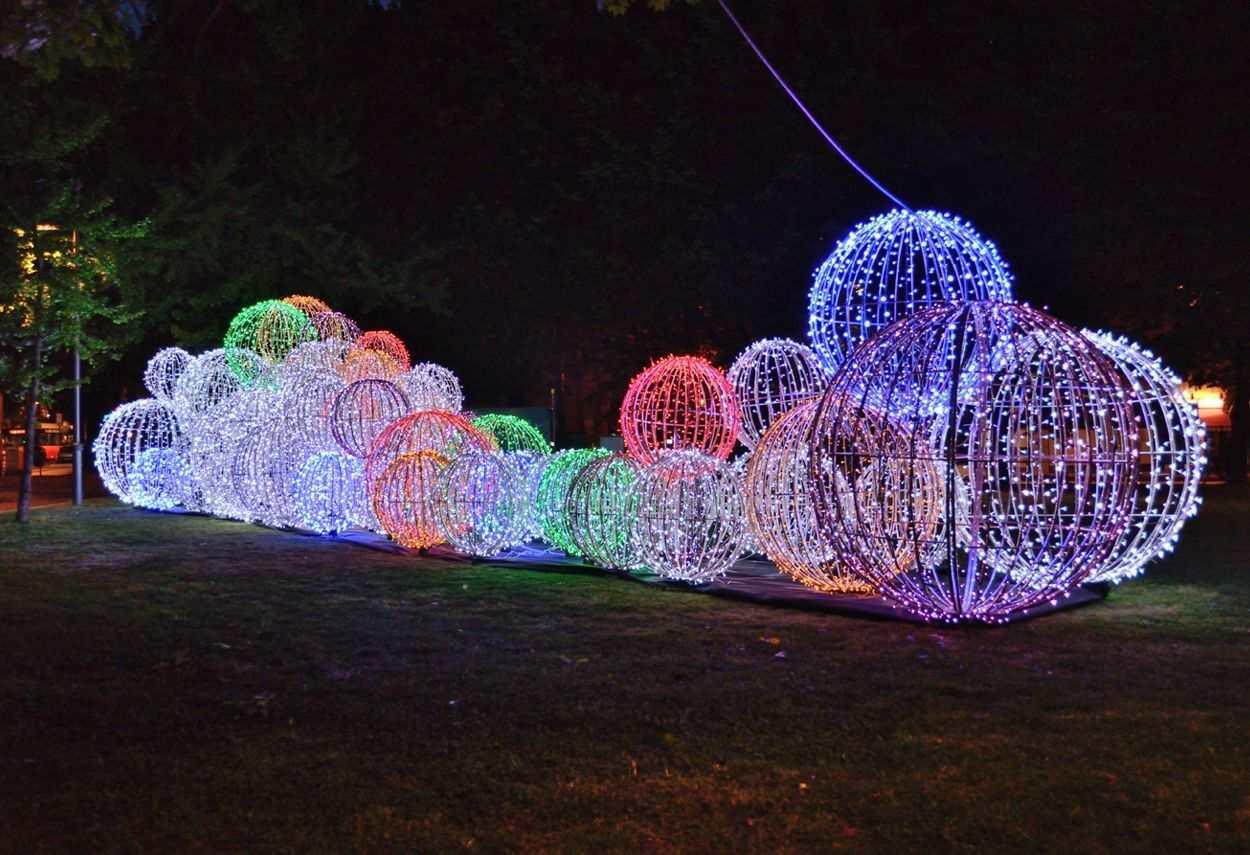 Italy Bergamo Routes EXPO 2015 night view - led light design