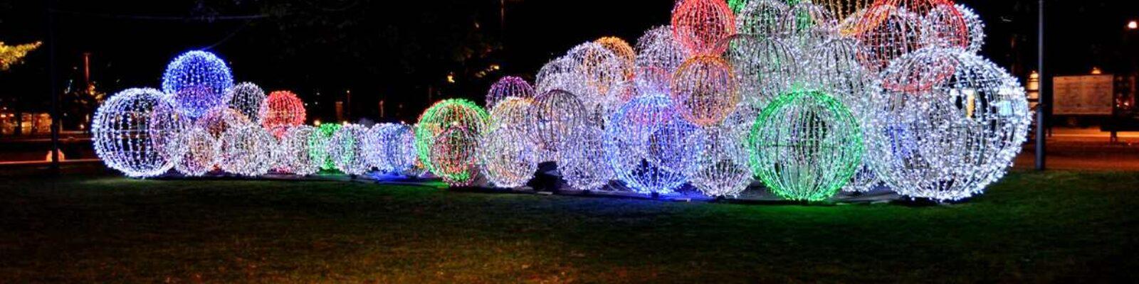 Italy Bergamo Routes EXPO 2015 - led light design