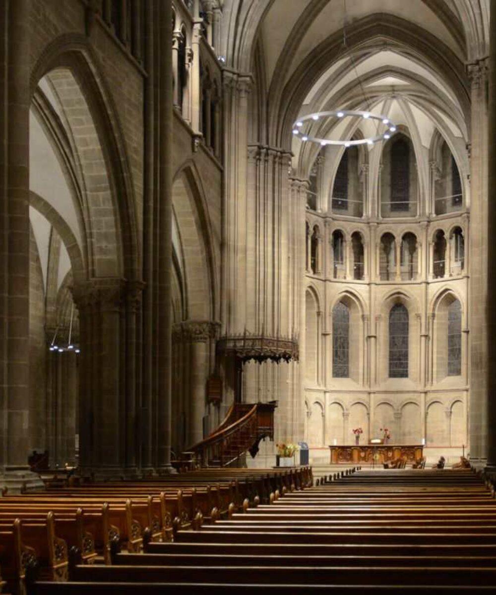 Geneva Saint-Pierre Cathedral main view - museum lighting design