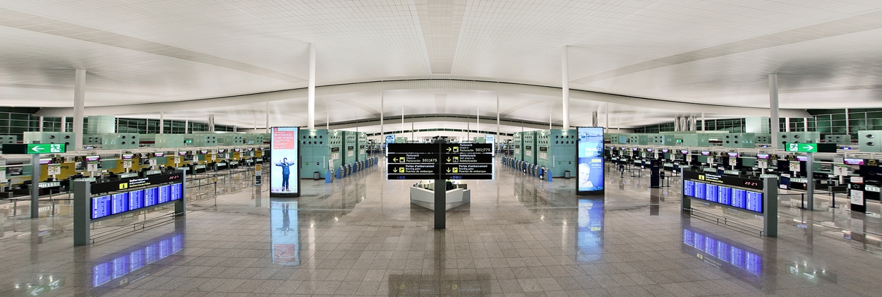 Spain Barcelona El Prat Airport project views