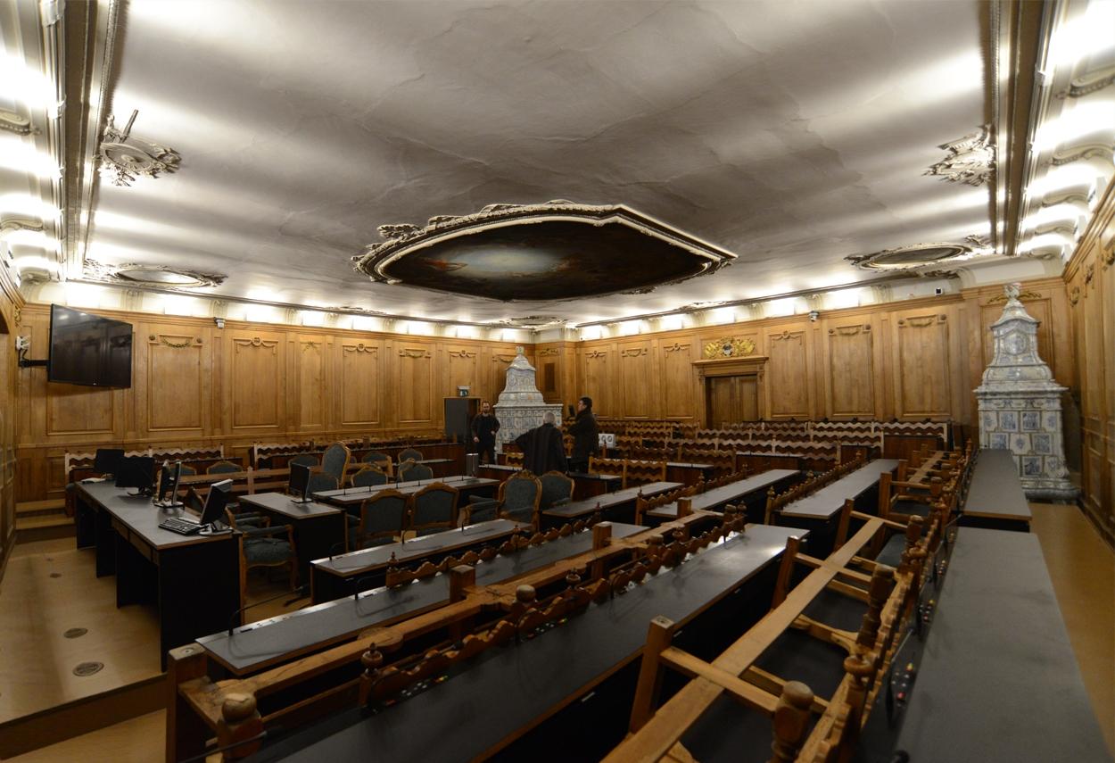 Sala del Gran Consiglio, Friburgo - Lights