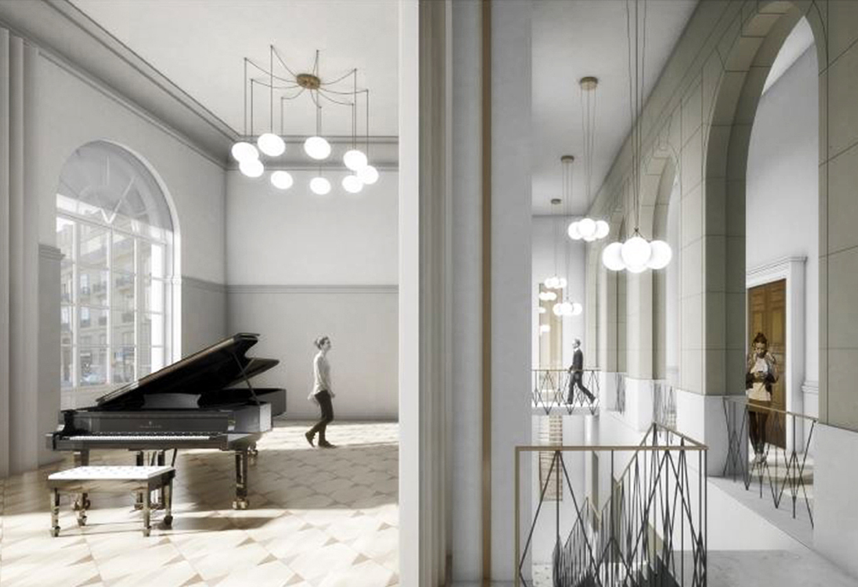 Conservatoire de Musique detail - project lighting