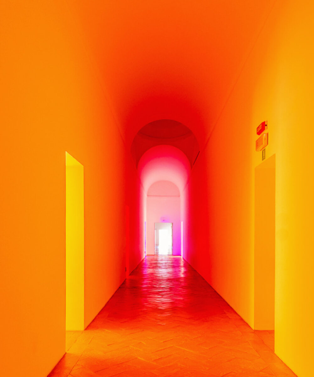 Dan Flavin Exhibition Milan - red and yellow
