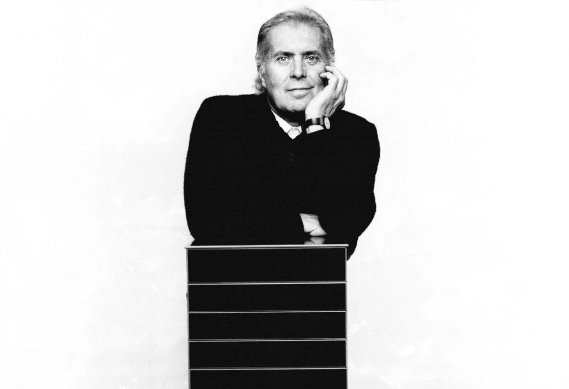 Black and white photo of Pierluigi Ghianda
