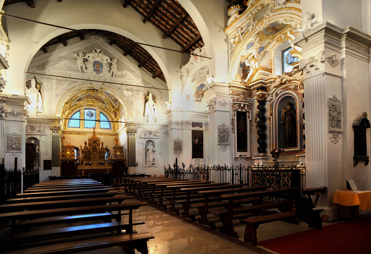 Internal view of the church