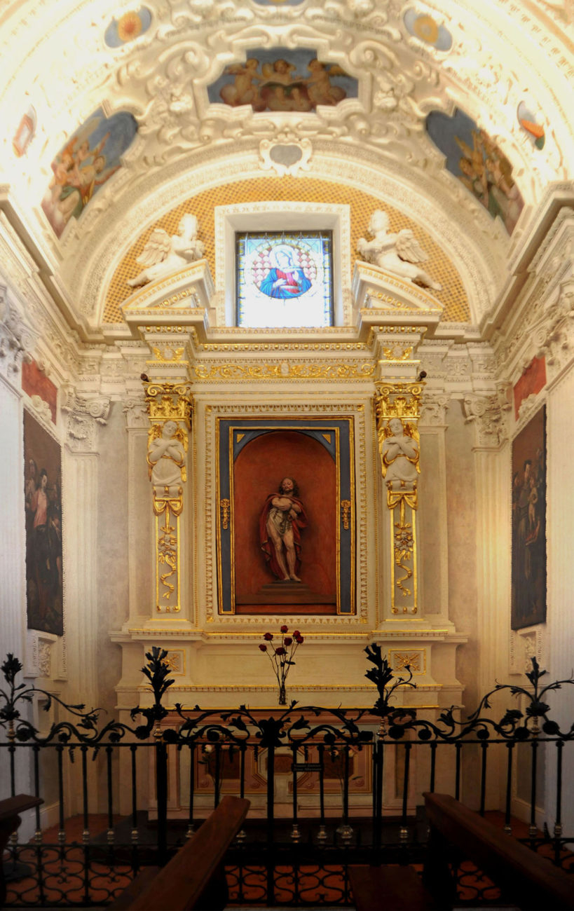 Detail of the altar