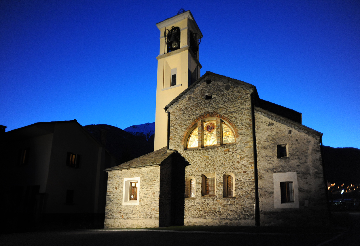 External view of the Church in Bironico