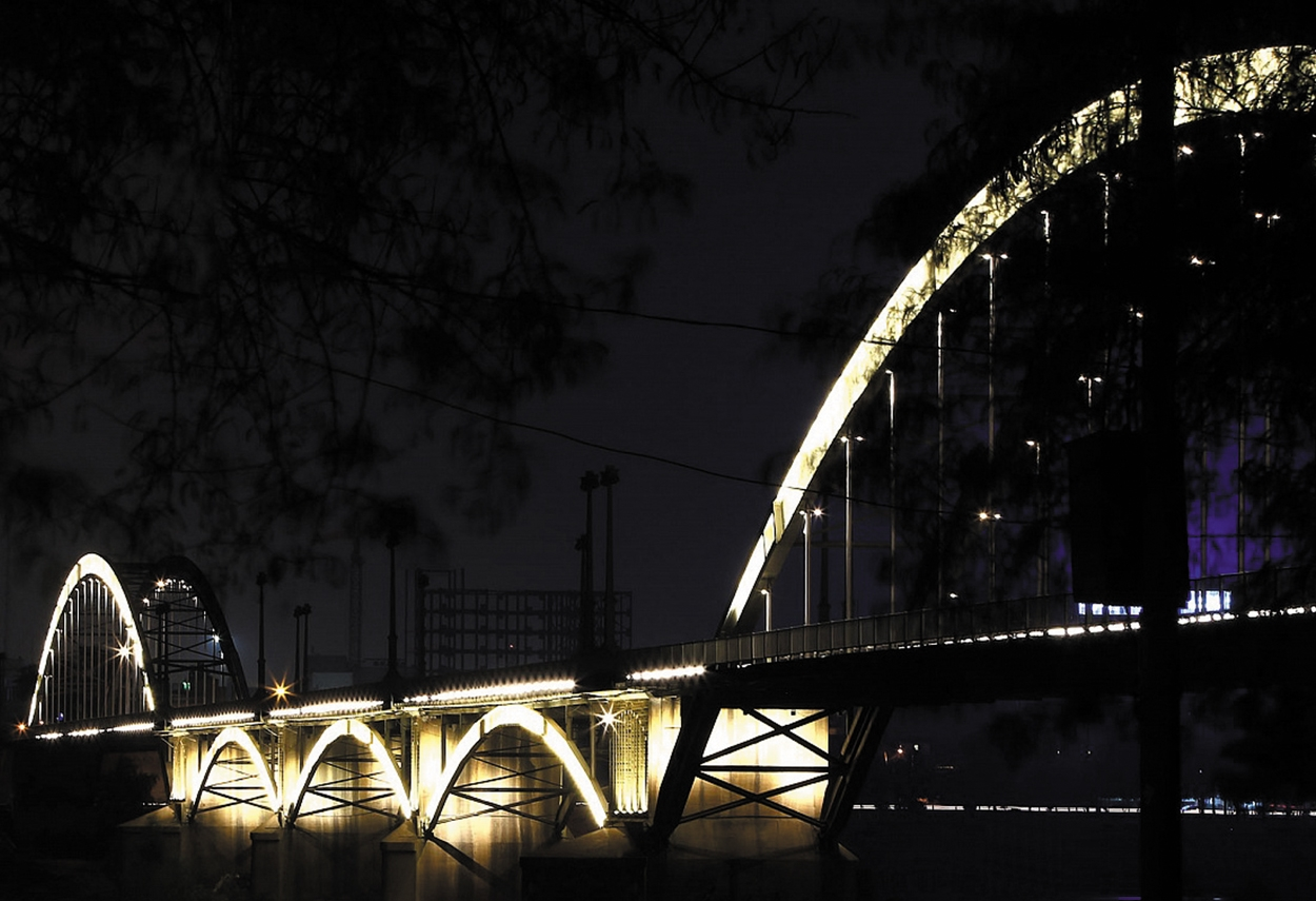 Ahvaz Bridges lighting in Iran night view