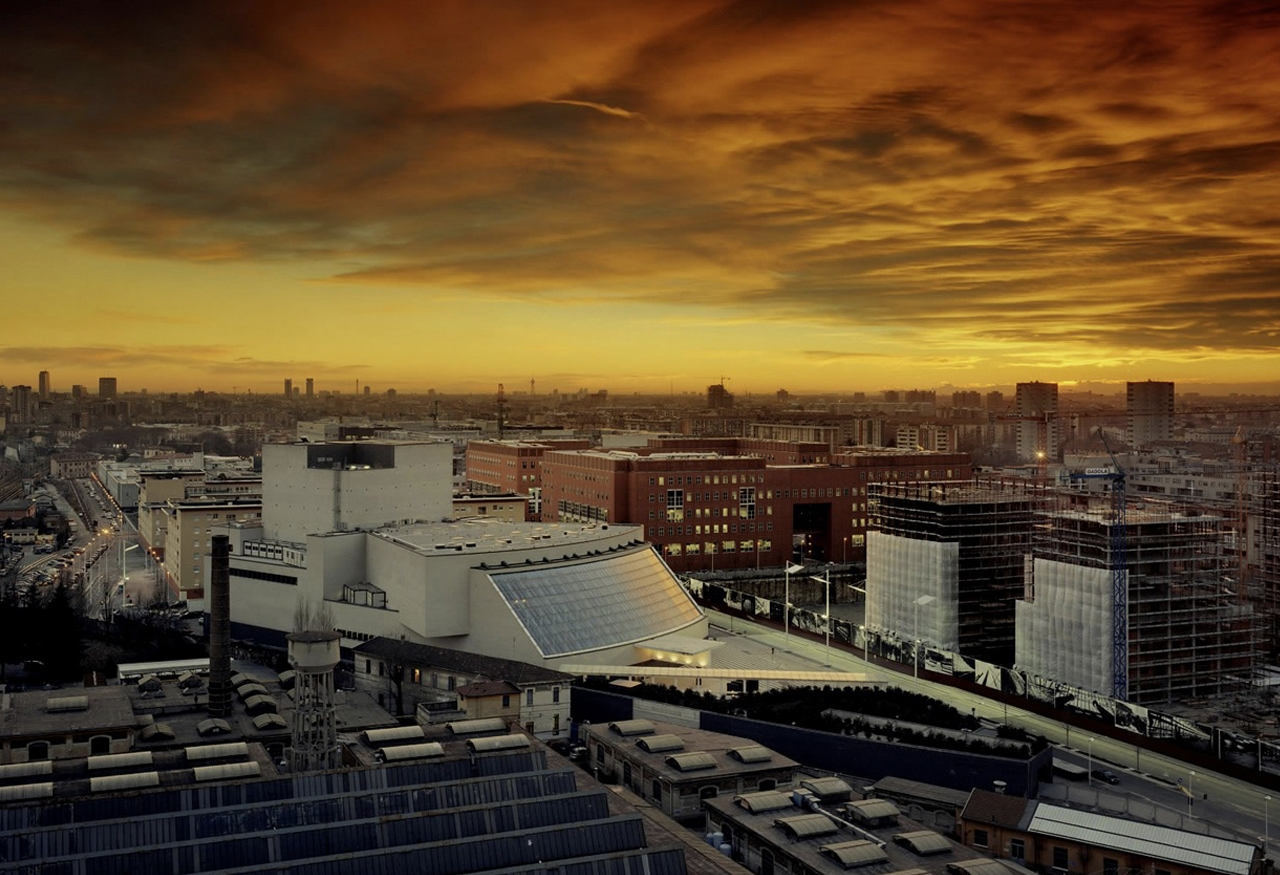 (2002 - Italy - Milan - Arcimboldi Theater - Aerial view)