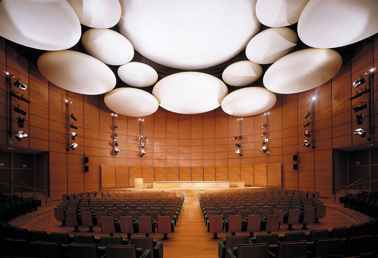Overall view of the Auditorium of the Banca Popolare di Lodi