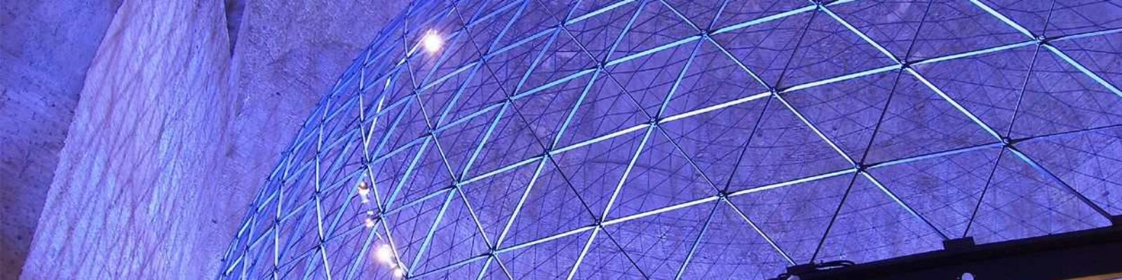 Planetarium Baths of Diocletian dettaglio struttura dei corpi illuminanti - Design Luce