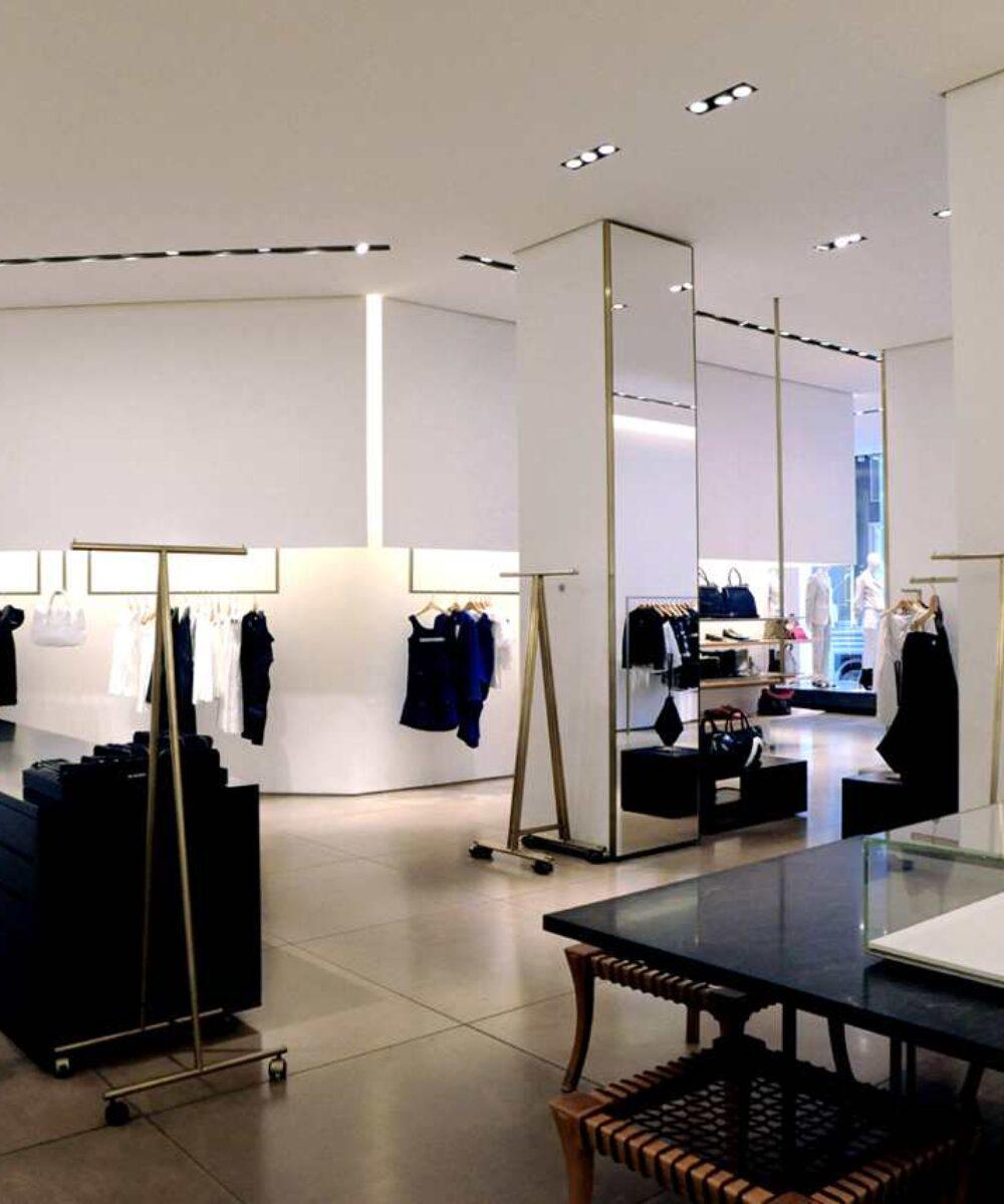 Jil Sander Showroom in Milan dettagli illuminazione interna - Illuminazione Vetrine