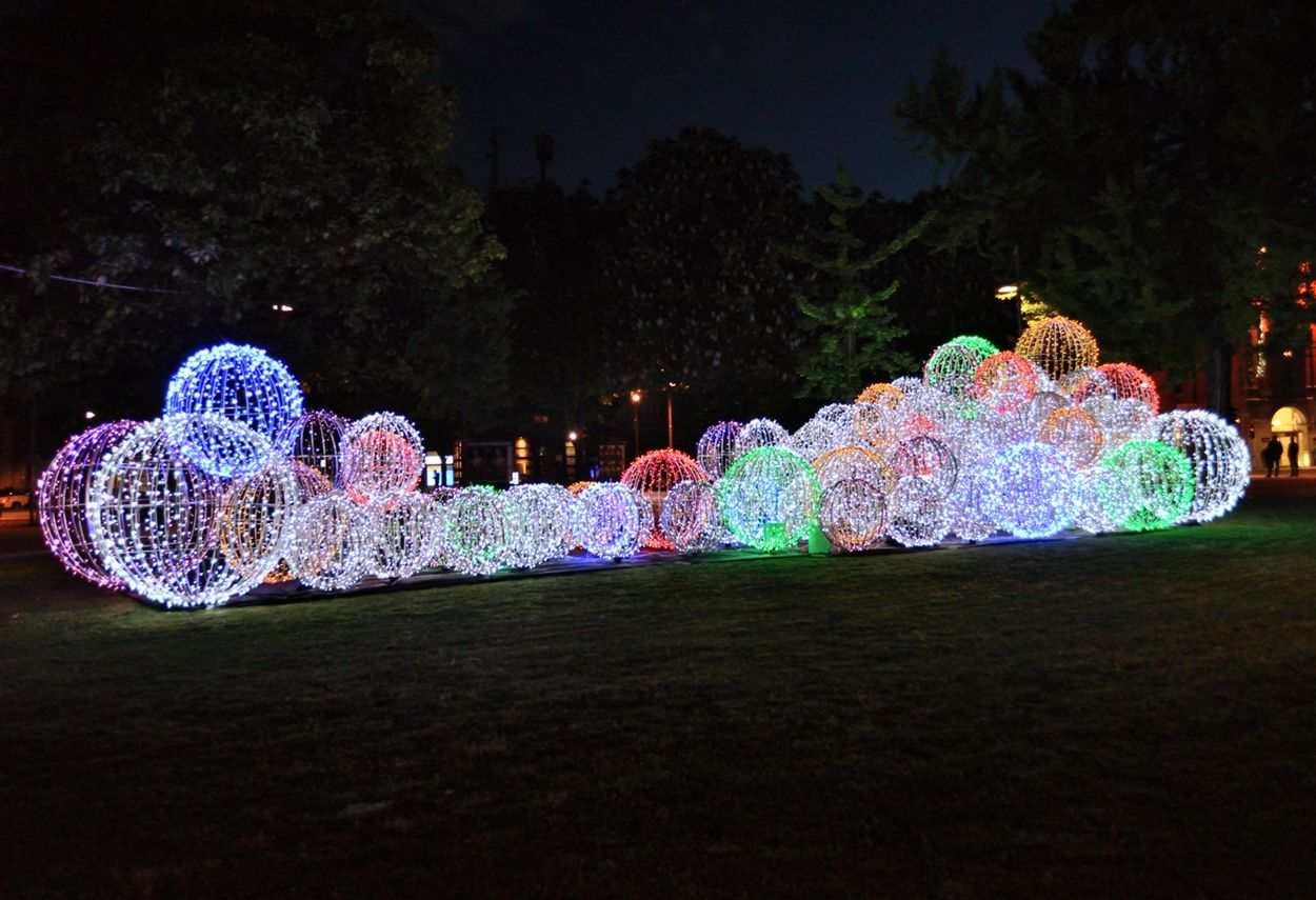 Bergamo Routes EXPO 2015 vista notturna - illuminazione musei