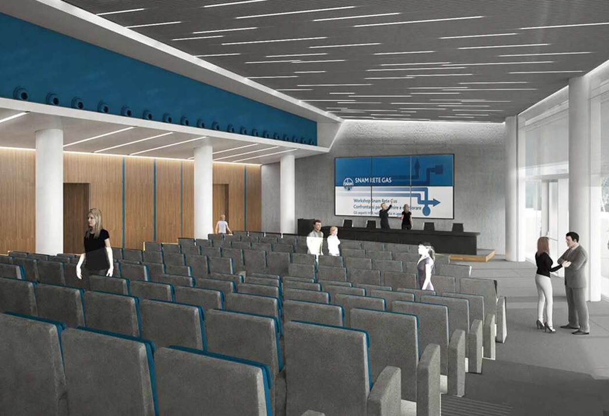 SNAM Headquarter sala conferenze - illuminazione ufficio