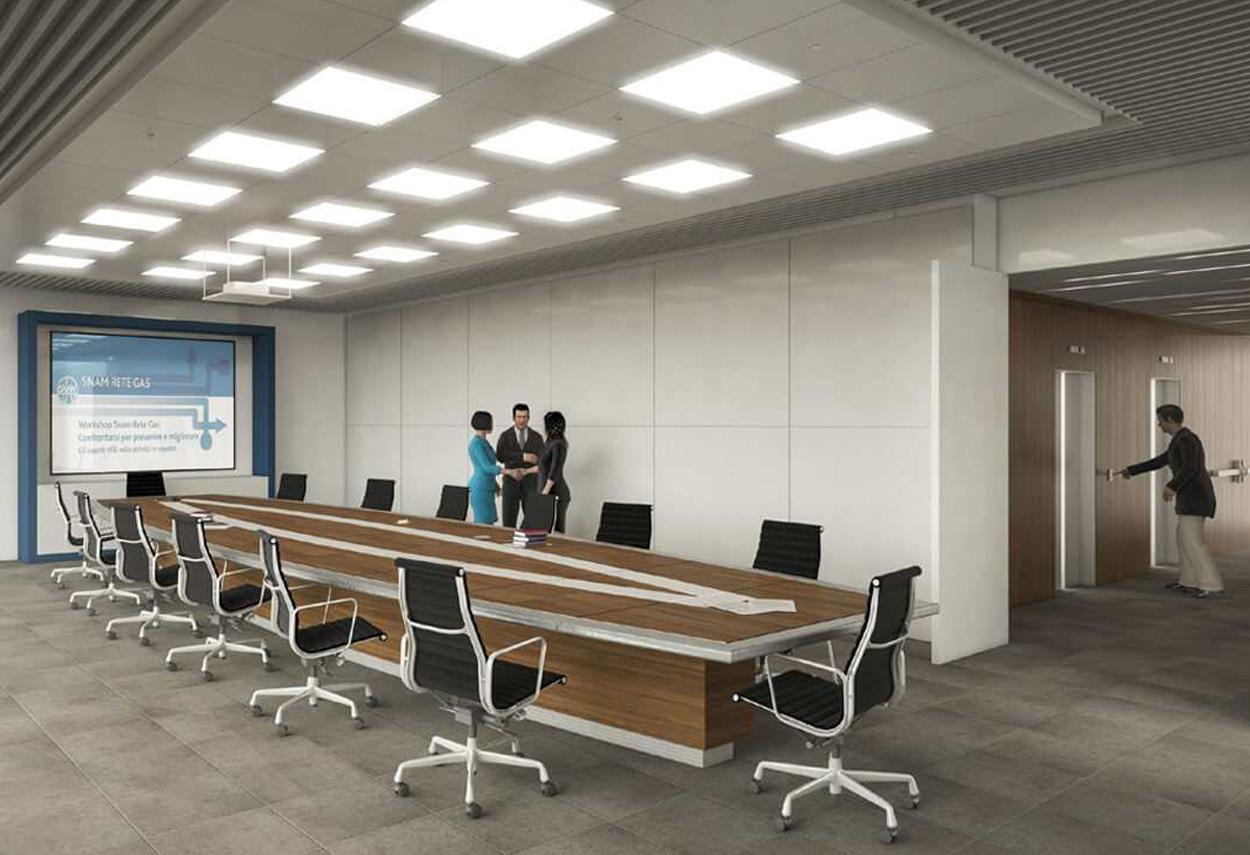 SNAM Headquarter sala riunioni - illuminazione ufficio