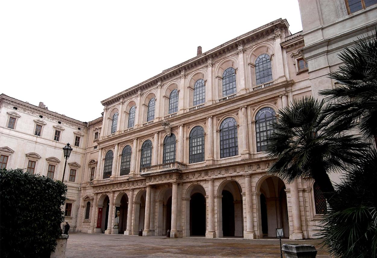Palazzo Barberini a Roma vista di giorno