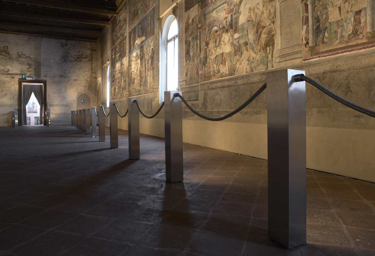 Schifanoia Palace vista dal basso sala - illuminazione musei