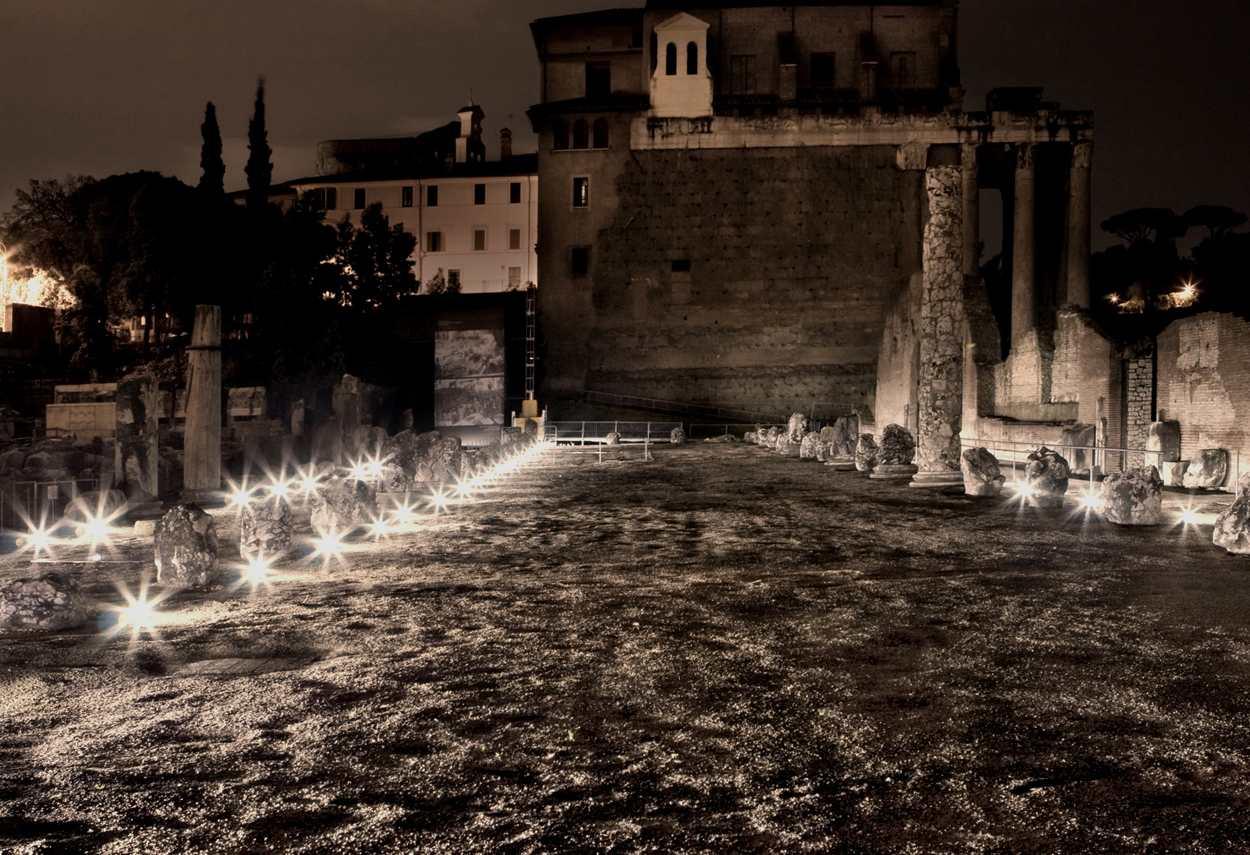 Rome Imperial Forums apparecchi illuminanti - illuminazione musei