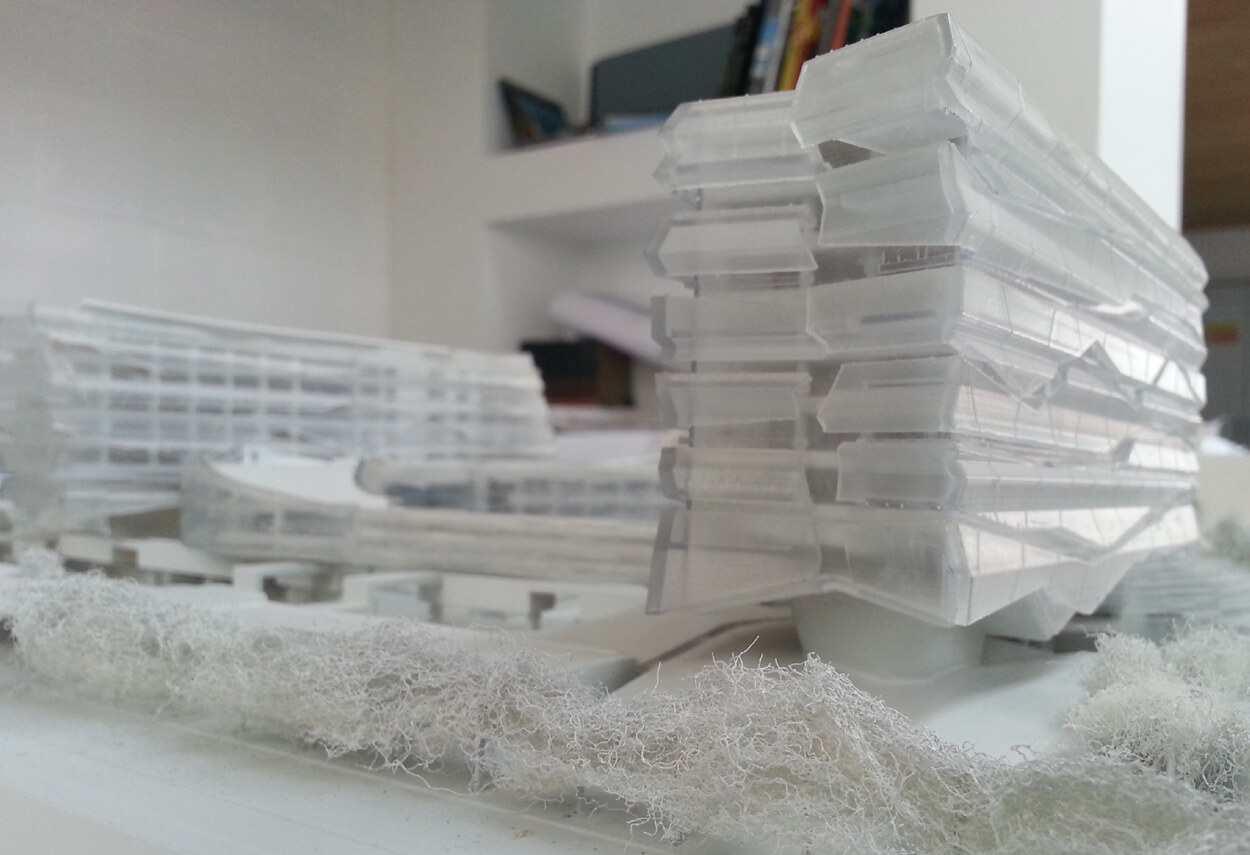 Italy San Donato ENI Headquarters plastico costruttivo