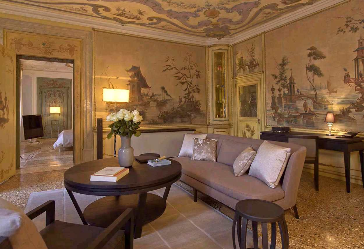 Papadopoli Palace Aman Resorts sala affrescata - Illuminazione architetturale