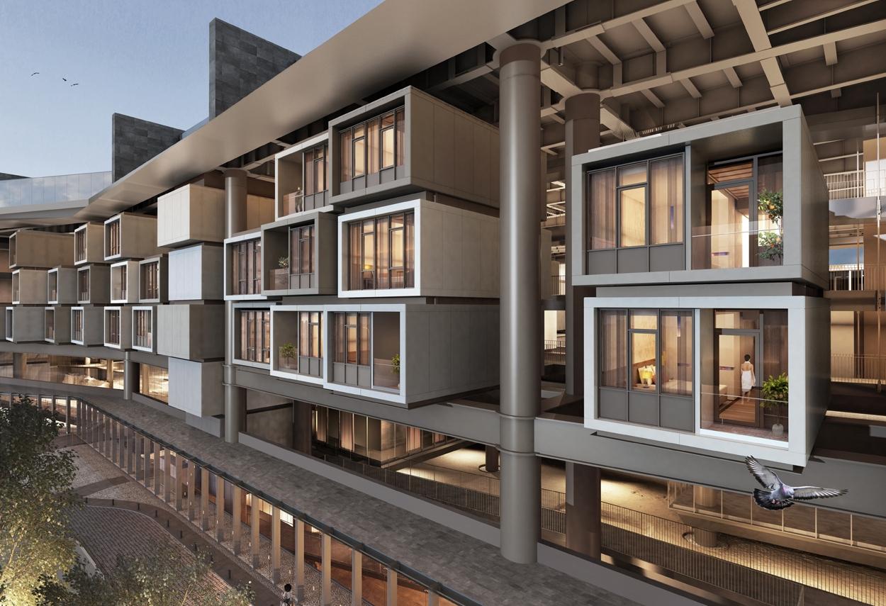 Antakya Museum Hotel vista stanze dall'esterno - design luce