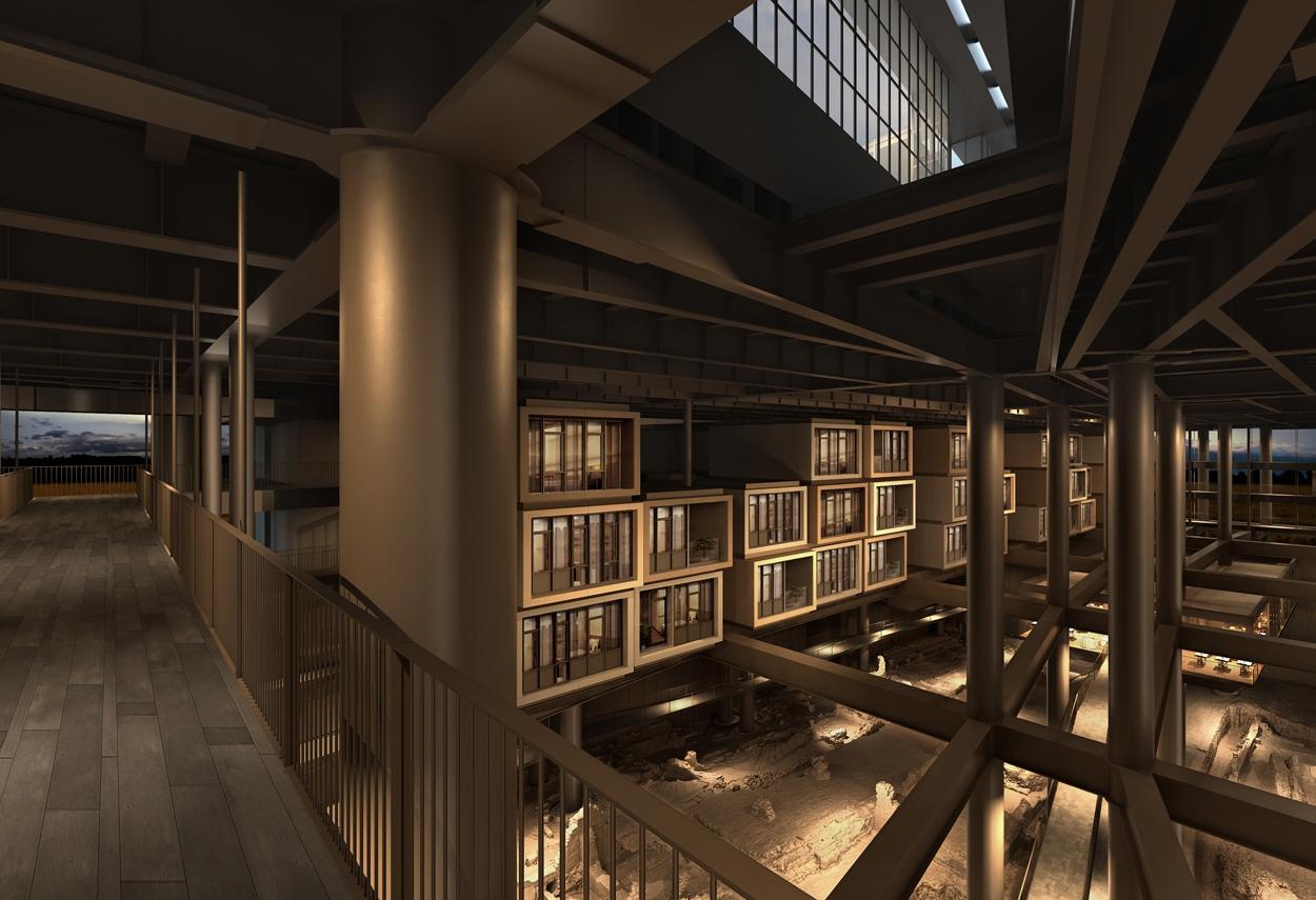 Antakya Museum Hotel vista da piano alto - design luce