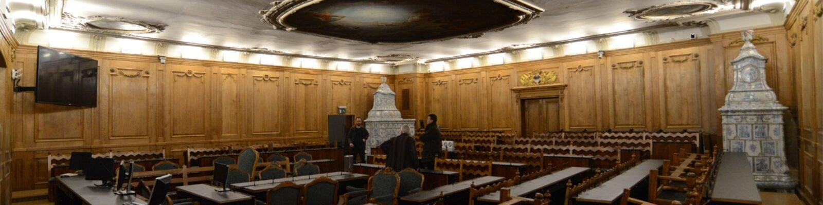 Sala del Gran Consiglio vista d'insieme sala - design luce