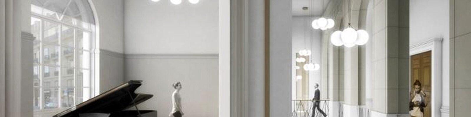 Conservatoire de Musique in Svizzera dettagli architettonici - illuminazione interni