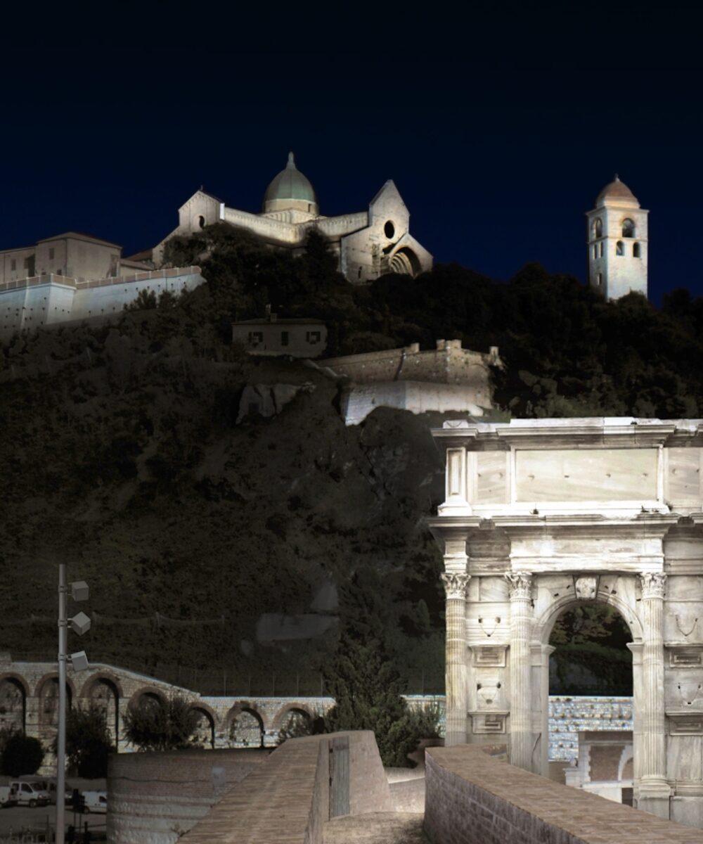 Concorso WaterFront: Ancona illuminata di notte
