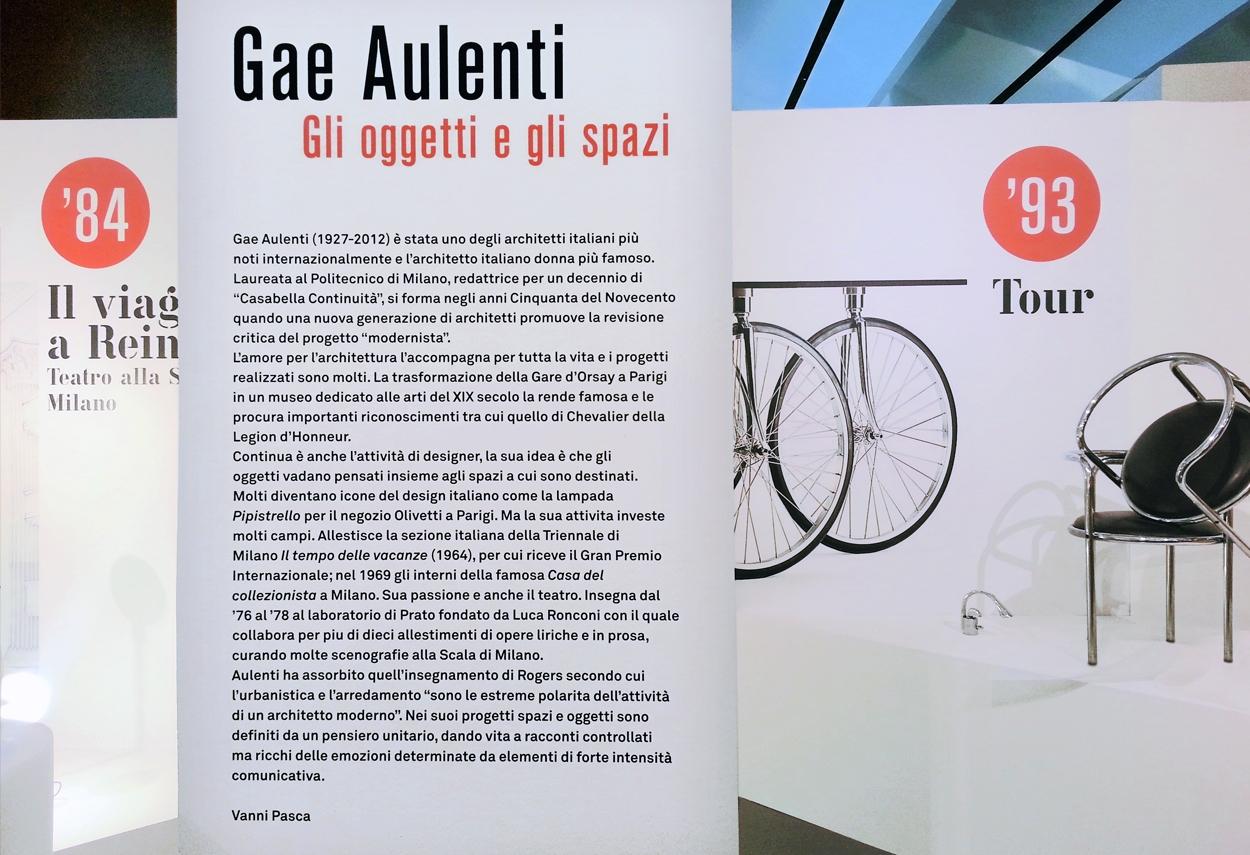 Gae Aulenti Exhibition schede visita - Illuminazione Musei
