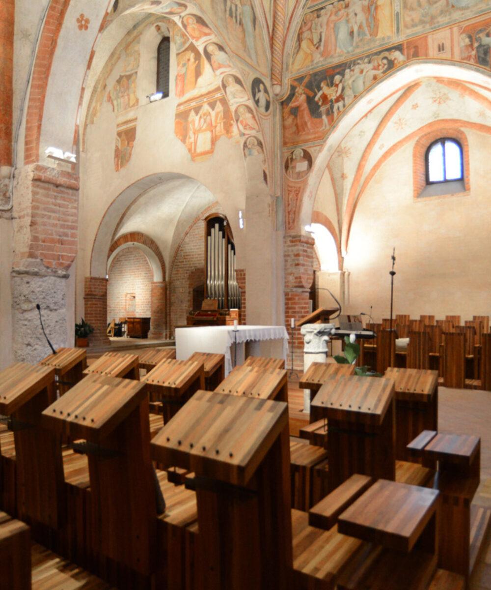 Monastero di Viboldone sala di preghiera - Design Luce