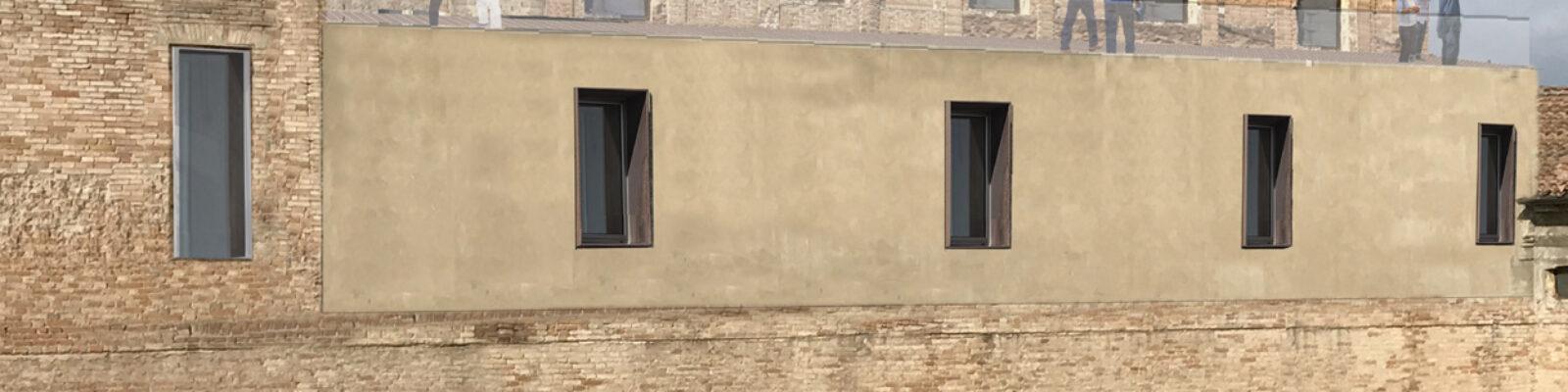 Rendering dell'intervento architettonico