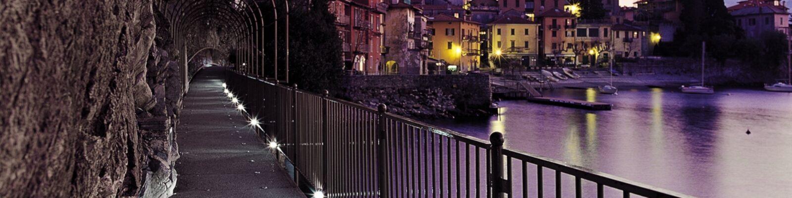 Illuminazione del centro storico di Varenna