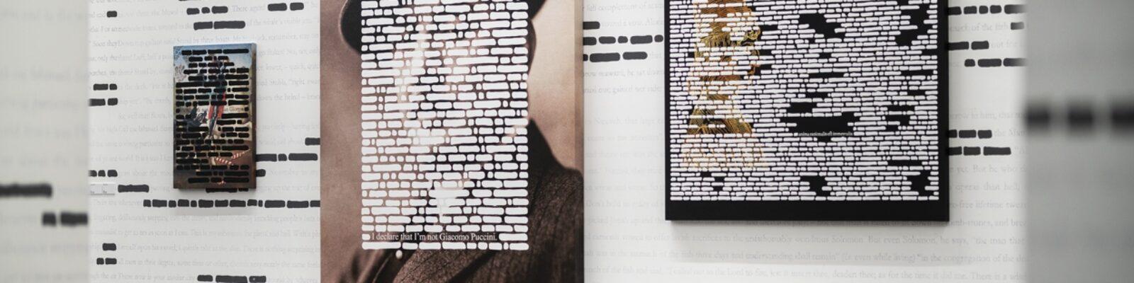 Opere esposta nella Mostra Isgrò