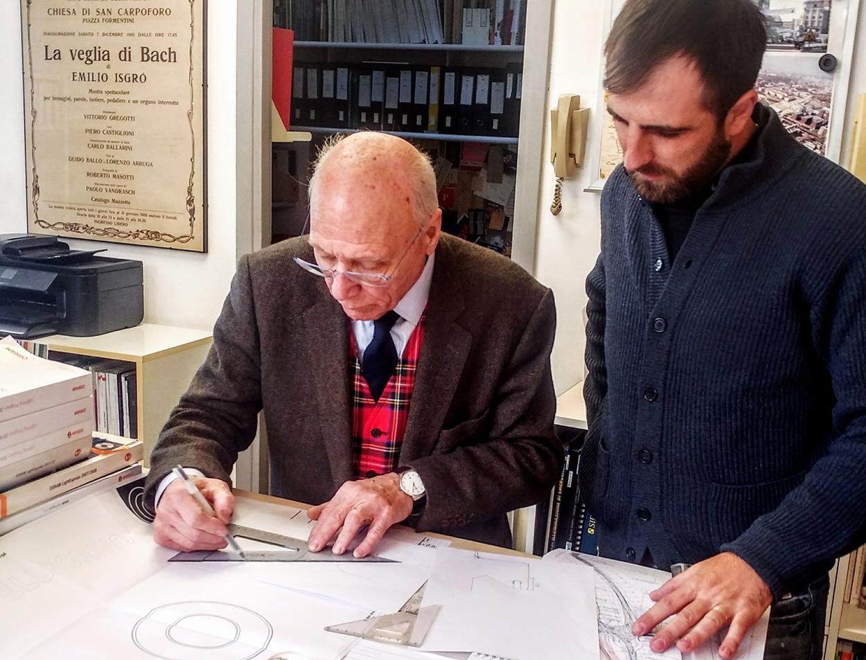 Marco Pertucci & Piero Castiglioni al lavoro