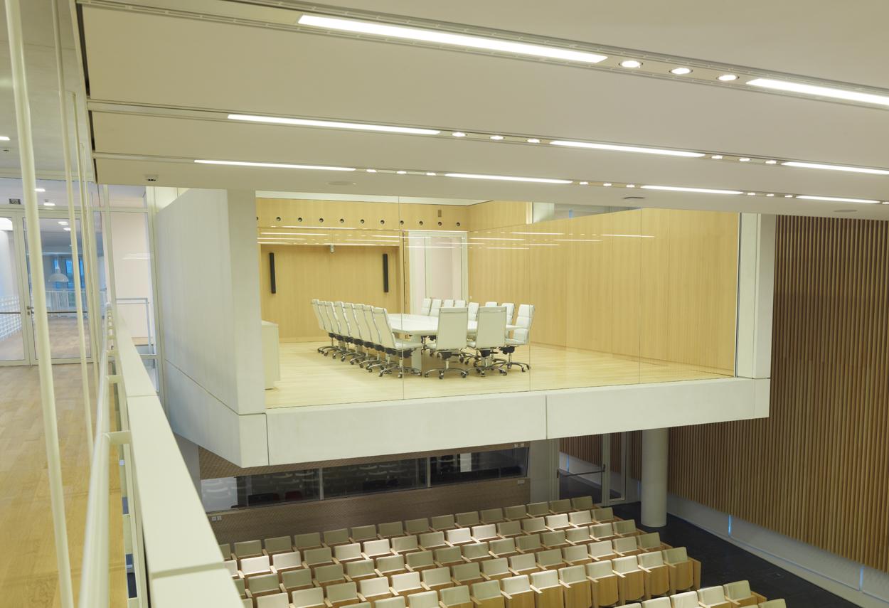 La sala riunioni sopra l'auditorium