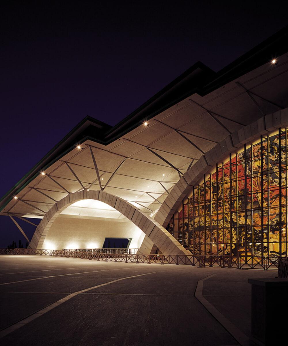 L'illuminazione notturna del Santuario