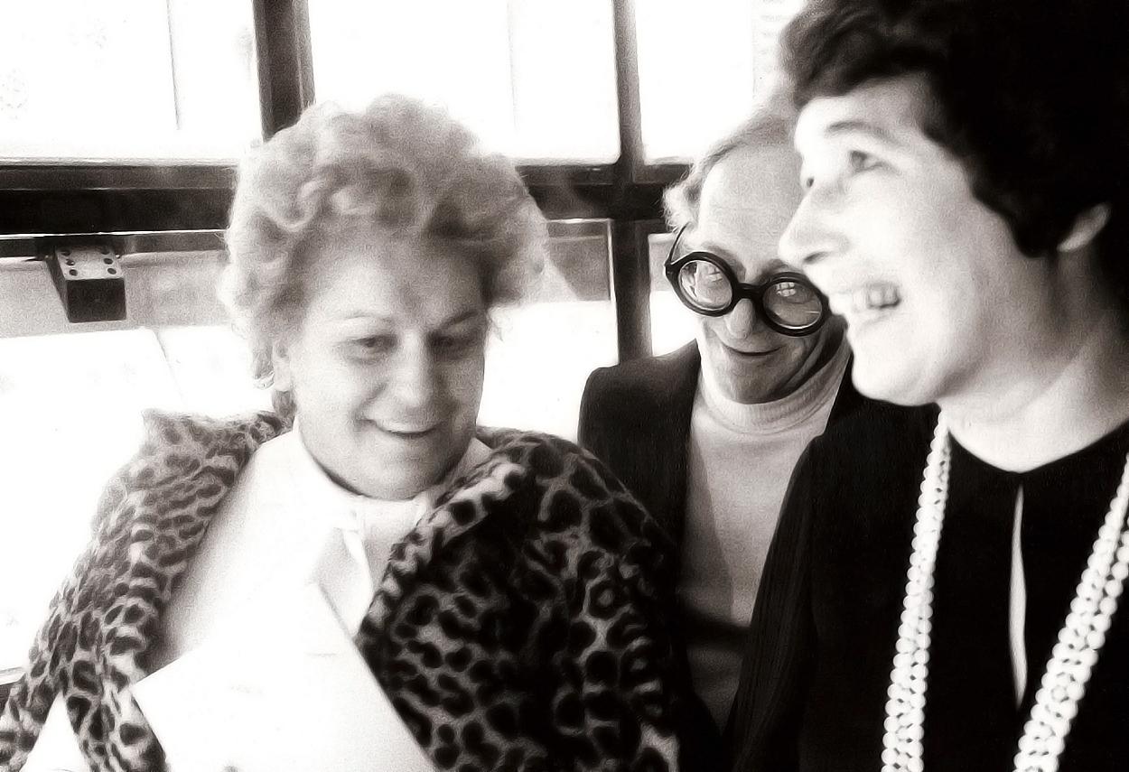 Gae Aulenti, Livio Castiglioni e Rina Brion
